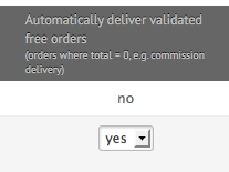 Free orders validation